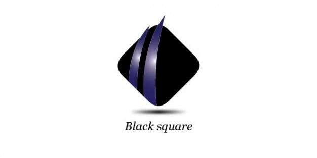 Modelo preto logotipo quadrado