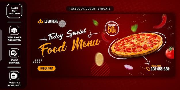 Modelo promocional de mídia social de venda de alimentos