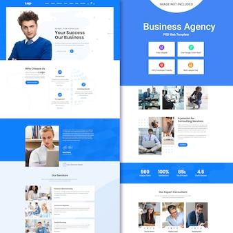 Modelo psd de agência de negócios