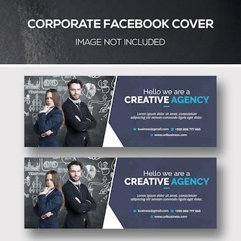 Modelo psd de capa corporativa para facebook
