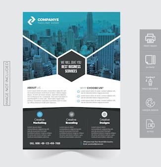 Modelo psd de design de folheto corporativo