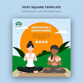 Modelo quadrado de meditação e atenção plena