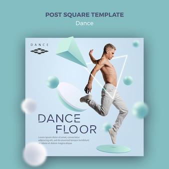 Modelo quadrado de pista de dança