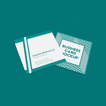 Modelo quadrado do cartão de visita