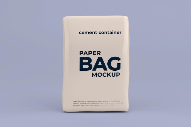 Modelo realista de maquete de bolso de cimento