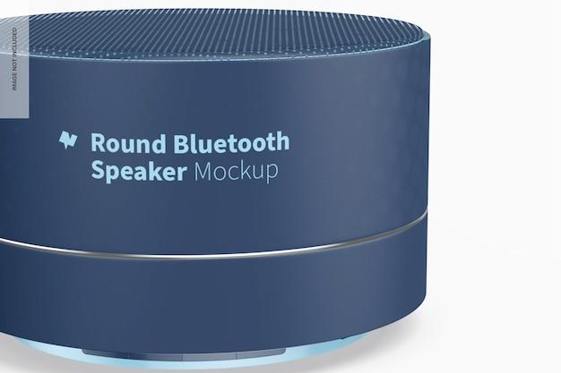 Modelo redondo de alto-falante bluetooth, close-up