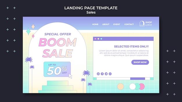 Modelo retro da página de destino de vendas