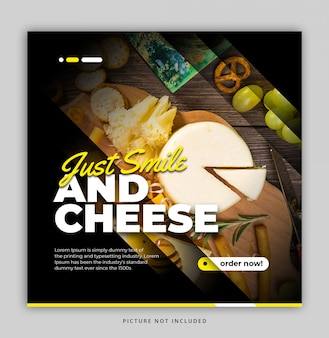 Modelo simples de feed de instagram de comida dinâmica moderna