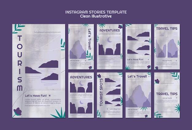 Modelo simples de histórias ilustrativas do instagram