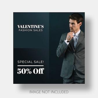 Modelo social de vendas do dia dos namorados
