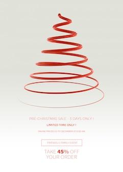 Modelo vertical de banner ou cartaz de venda de natal