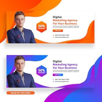 Modelos de banner de marketing digital