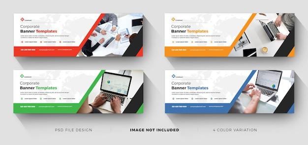 Modelos de banner de negócios profissionais corporativos Psd Premium