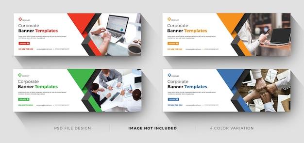 Modelos de banner profissional criativo para negócios corporativos