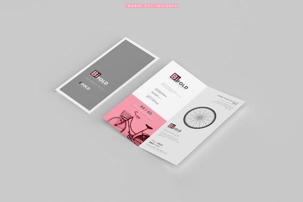 Modelos de brochura com dobra dupla