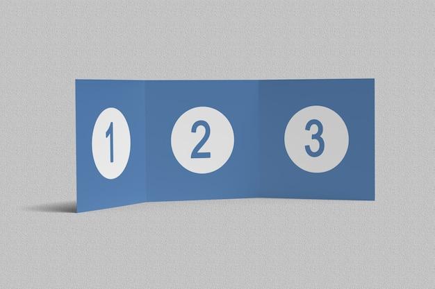 Modelos de brochura quadrada com três dobras