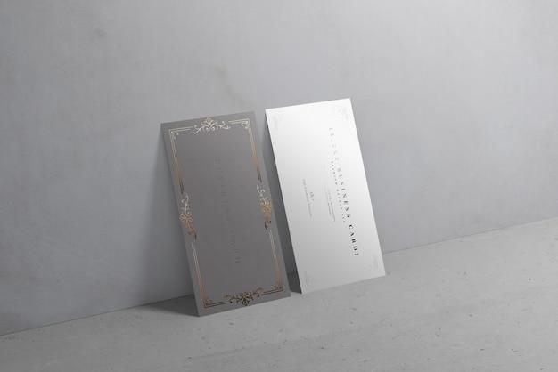Modelos de cartão de visita verticle