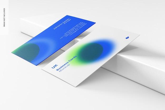 Modelos de cartões de visita horizontais, inclinados