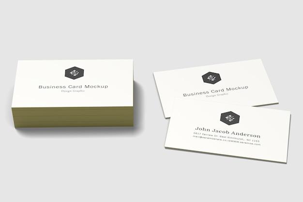 Modelos de cartões de visita isolados