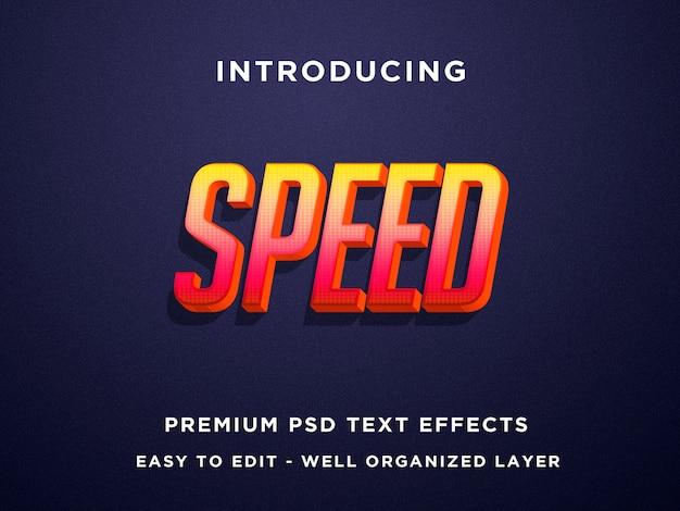 Modelos de efeito de texto 3d de velocidade laranja