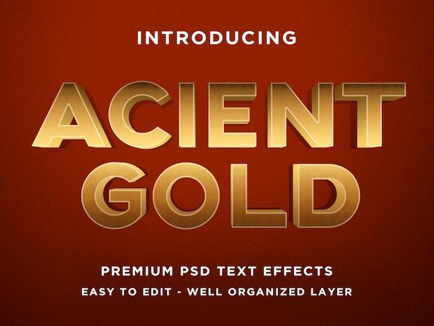Modelos de efeito de texto acient gold 3d