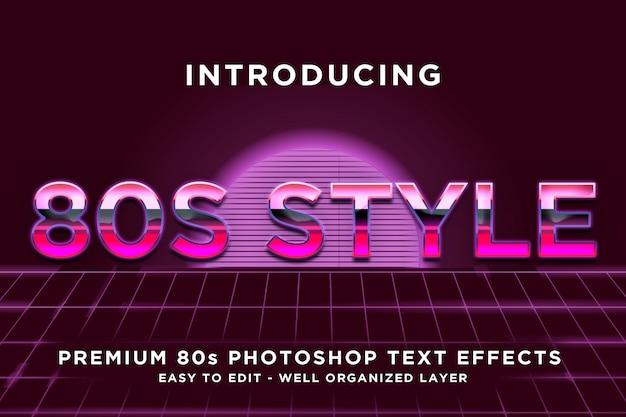 Modelos de efeitos de texto em estilo rosa dos anos 80