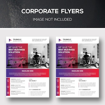 Modelos de folheto corporativo