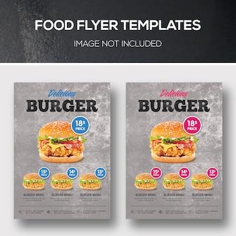 Modelos de folheto de alimentos