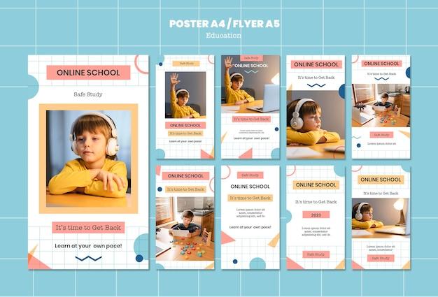 Modelos de histórias do instagram para escolas online