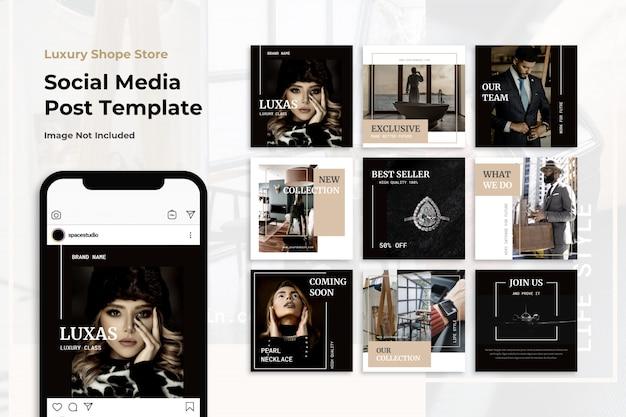 Modelos de instagram de banner de mídia social elegante minimalista de luxo