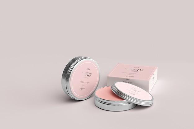 Modelos de jarros de metal cosméticos