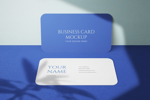 Modelos de maquete de cartão de visita de empresa de canto redondo contemporâneo