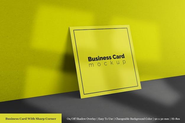 Modelos de maquetes de cartão de empresa quadrada realista e limpo com textura