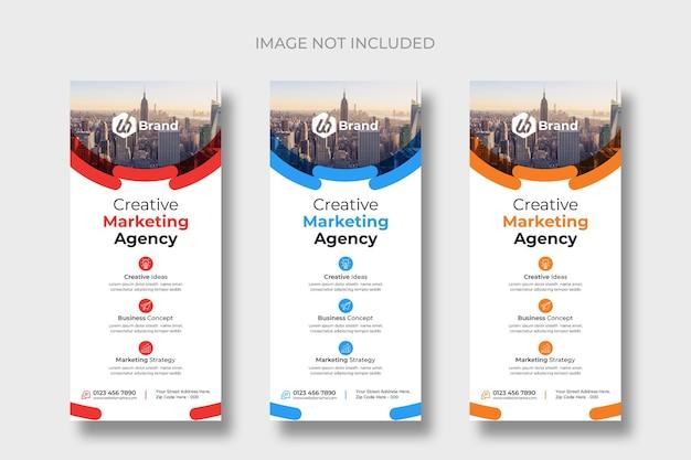 Modelos de panfletos ou cartões dl empresariais modernos