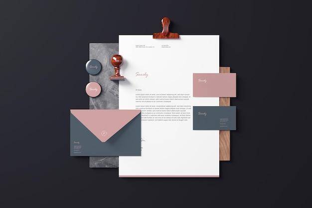 Modelos de papelaria de marca
