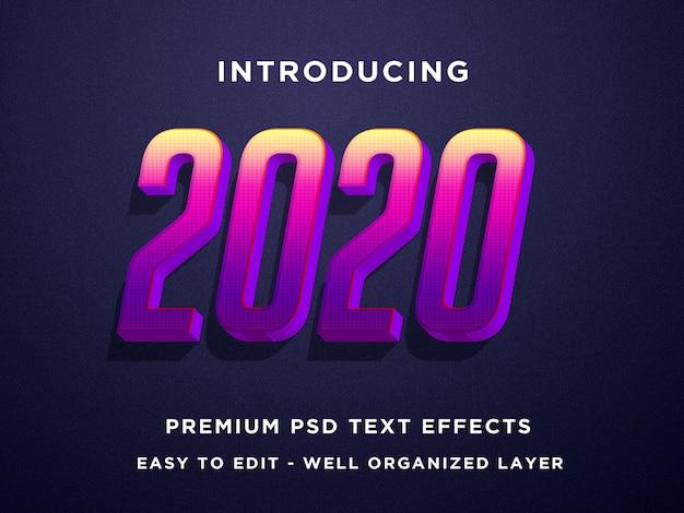 Modelos de photoshop de efeito de texto 3d 2020