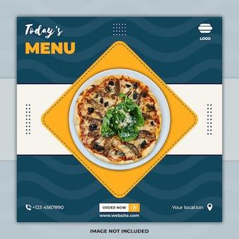 Modelos de postagem de mídia social de banner de comida