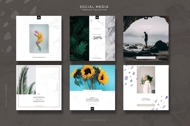 Modelos de postagem de mídia social