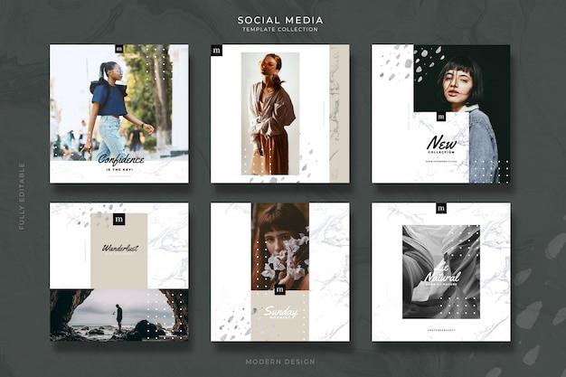 Modelos de postagem de mídias sociais editáveis