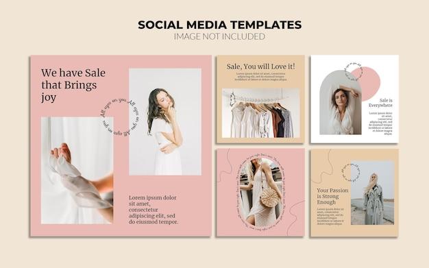 Modelos de postagem de negócios online no instagram