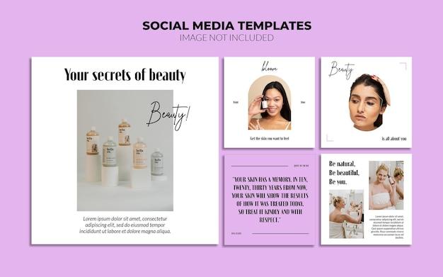 Modelos de postagem no instagram da beauty social media
