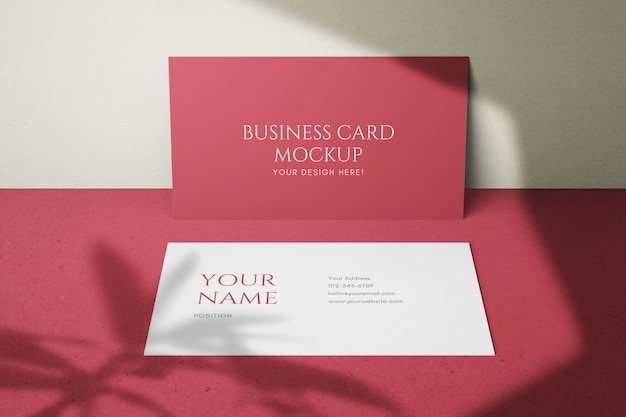 Modelos de psd de cartão de nome de empresa limpa elegante de 90x50mm
