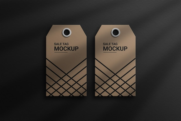 Modelos de tags de venda vista superior do photoshop