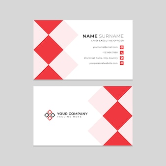 Modelos profissionais de cartão de visita
