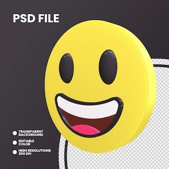 Moeda emoji 3d renderização isolada olhos grandes