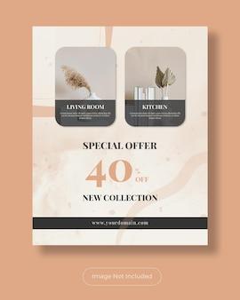 Molde especial do banner do post do instagram do mobiliário da oferta especial