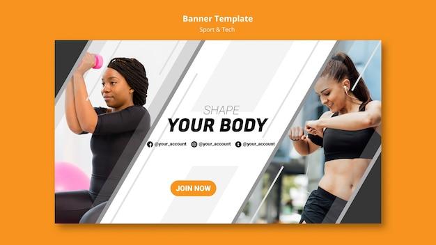 Molde seu modelo de banner de corpo