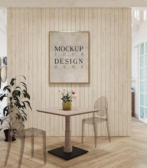 Moldura de maquete em design moderno sala de estar