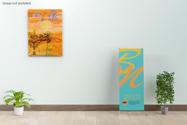 Moldura de parede e maquete de banner