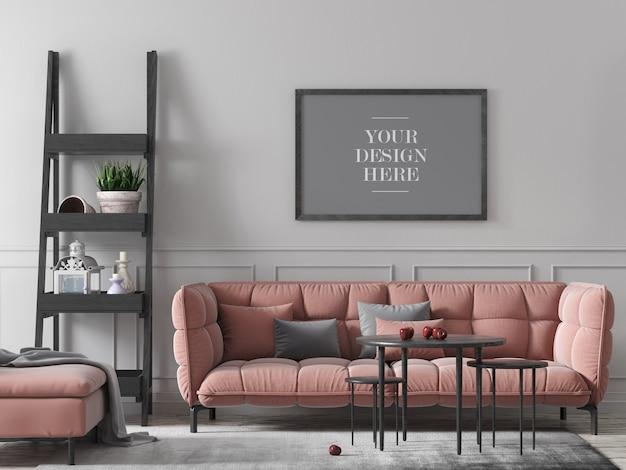 Moldura de parede em decoração de casa em decoração de casa